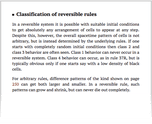 Classification of reversible rules