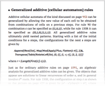 Generalized additive [cellular automaton] rules
