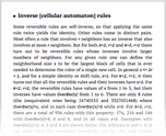 Inverse [cellular automaton] rules
