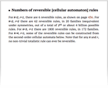 Numbers of reversible [cellular automaton] rules