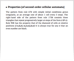 Properties [of second-order cellular automata]