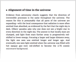 Alignment of time in the universe