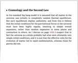 Cosmology and the Second Law