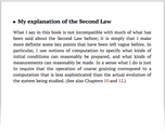 My explanation of the Second Law