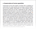 Conservation of vector quantities