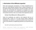 Derivation of the diffusion equation