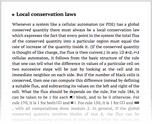 Local conservation laws