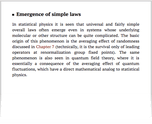 Emergence of simple laws