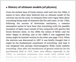 History of ultimate models [of physics]