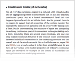 Continuum limits [of networks]
