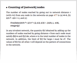 Counting of [network] nodes