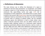 Definitions of dimension