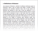 Definitions of distance