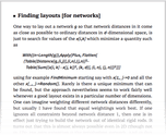 Finding layouts [for networks]