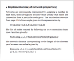 Implementation [of network properties]