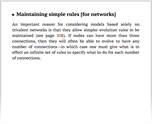 Maintaining simple rules [for networks]