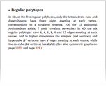 Regular polytopes