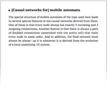 [Causal networks for] mobile automata