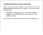 Implementation [of causal networks]